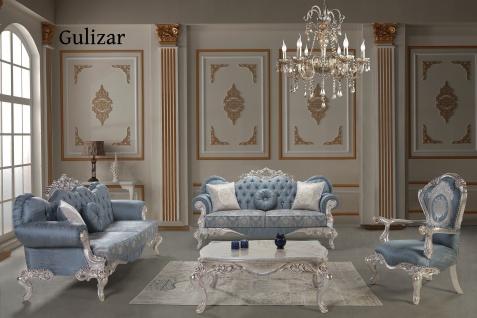 Sofa Couch Set Gülizar 3+3+1 in Blau