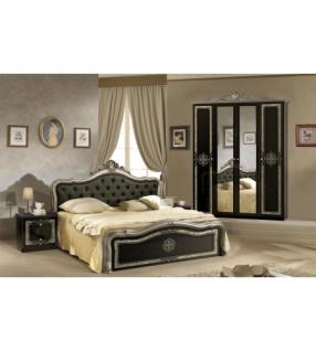 Schlafzimmer Lucy in schwarz Silber klassisch Designer Luxus4tlg ...