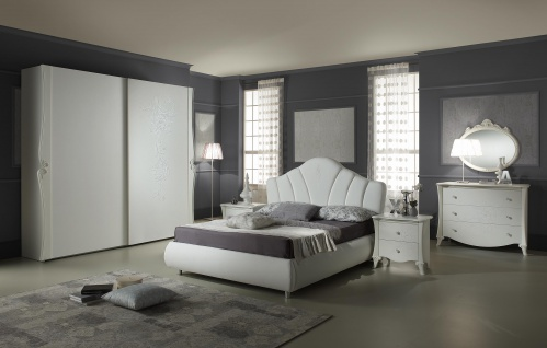 Schlafzimmer Doria in weiss elegant Moderne Möbel - Vorschau 1