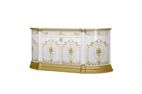 Sideboard Rozza in Weiss/Gold 4-T?rig