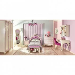 Mädchenzimmer Marie 3-teilig in Weiss Lila Prinzessin design