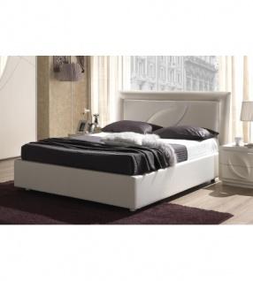Bett weiß 160x200  Bett 160x200 cm Trevia in weiss Stilvoll elegante Möbel - Kaufen bei ...