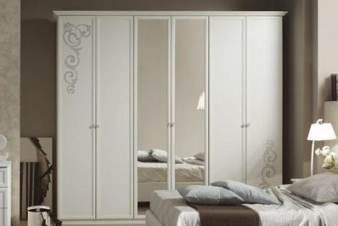 Kleiderschrank 6trg Matilee in weiss elegante Möbel