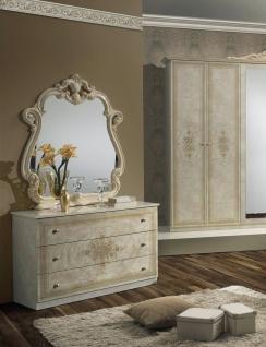 W?schekommode mit Spiegel Amalia in beige klassik italienisch