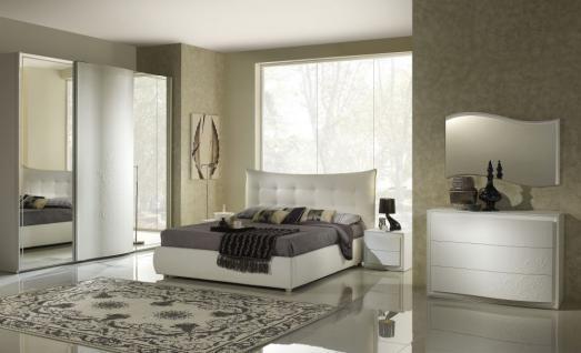 Schlafzimmer Chana Stauraum Bett 180x 200 cm weiss