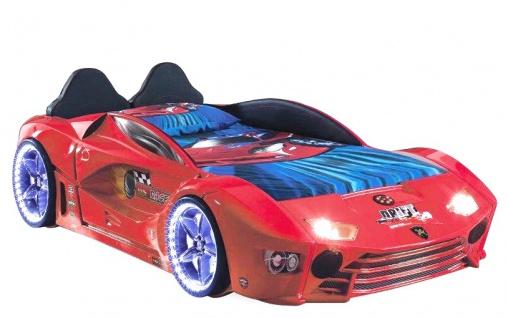 Autobett Turbo Drift Vollfunktion in Rot inkl. Lattenrost LED USB und Sound
