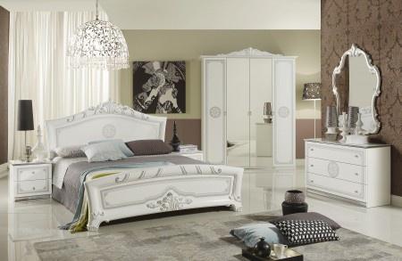 Hochwertig Schlafzimmer Great Weiss Silber Klassische Design Italienisch 18