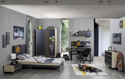 Jugendzimmer Set Yellow Points 6-teilig modern
