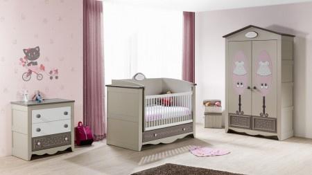 Fantastisch Babyzimmer Houses 3 Tlg Braun Beige Weiss Boutique Style