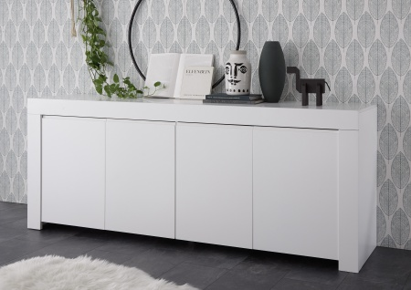 Sideboard Fren 210 cm weiss Lack matt