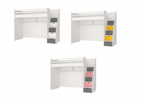Hochbett Neo f?r Jugendzimmer mit LEDs und USB in Verschiedenen Farben