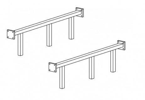 Verst?rkungs Metallstangen f?r 160 oder 180 Bett