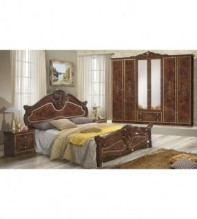 Schlafzimmer Italienisch | Schlafzimmer Amalia In Walnuss Klassik Italienisch 4tlg Kaufen Bei