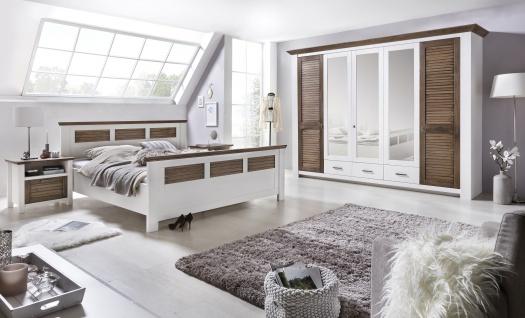 Schlafzimmer Laguna Pinie teilmassiv wei? Abs. 160x200 cm