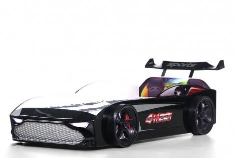 Kinderbett Autobett GT18 Turbo 4x4 in schwarz