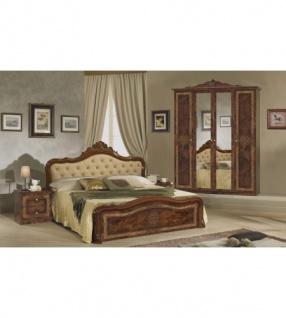Schlafzimmer Lucy In Walnuss Klassisch Braun Designer 4tlg