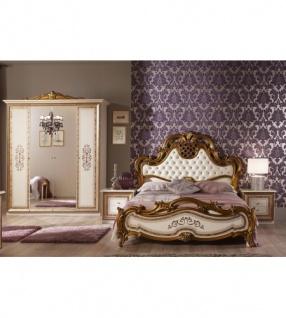Schlafzimmer Anja Beige Italien Konig Barock Bett 180 King Kls 4