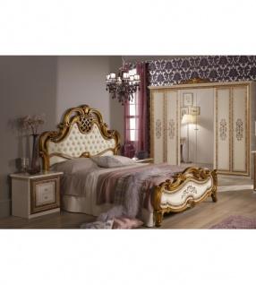 Schlafzimmer Anja beige Bett 180 Schrank 6trg Italien Barock4ltg ...
