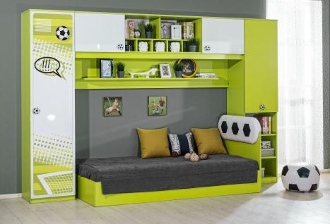 Kinderzimmer Fussball 4-teilig in Grün Weiß