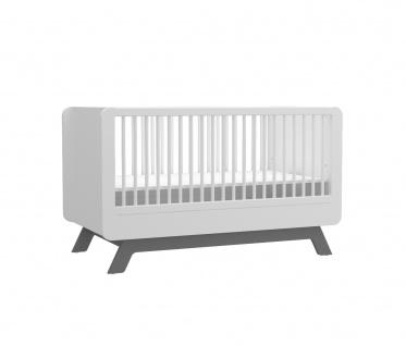 Babybett Baby Cute weiss/grau 70x130 cm