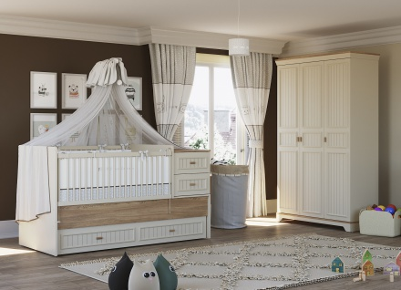 Monte Baby Set mitwachsendes Babybett - Vorschau 1