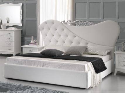 Bett 180x200cm Gisell In Weiss Edel Luxus Schlafzimmer Kaufen Bei