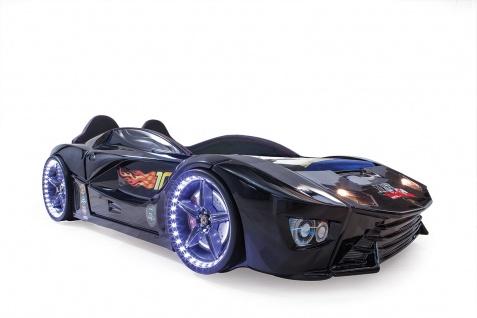 Autobett Turbo Drift Vollfunktion in Schwarz inkl. Lattenrost LED USB und Sound