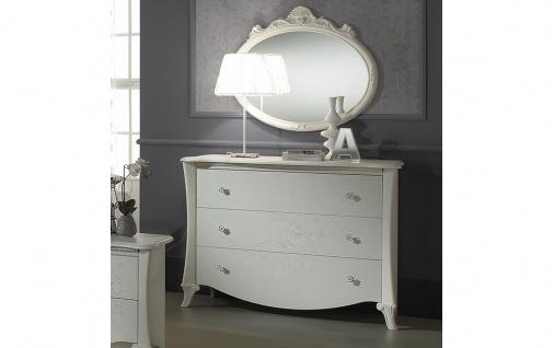 Kommode mit Spiegel Doria in weiss elegant Moderne Möbel