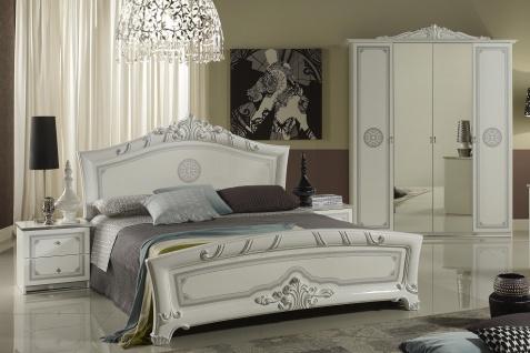 Schlafzimmer Great in weiss silber klassische Design 4tlg