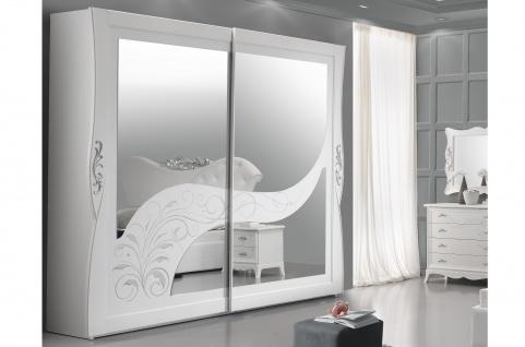 Schiebet?renschrank 2trg Gisell in weiss Edel Luxus Schlafzimmer