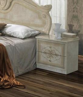 Nachtkonsole Amalia in beige klassik italienisch