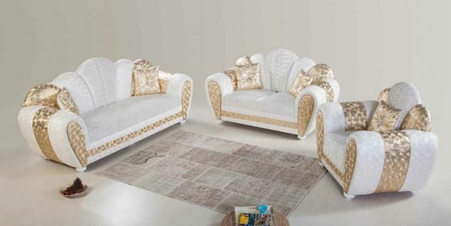 Sofa Couch Set Papatya 3+2+1 mit Schlaffunktion
