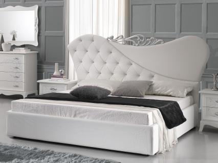 Doppeltbett Gisell in weiss Edel Luxus Bett