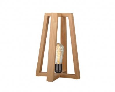 Nachttischlampe Origami in Holzoptik