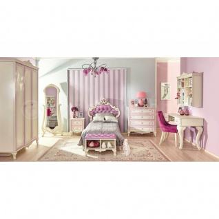 M?dchenzimmer Marie 8-teilig in Weiss Lila Prinzessin