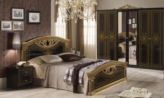 Schlafzimmer Giulia In Schwarz Gold Klassik Barock 6trg 4tlg