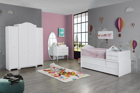 Babyzimmer komplett in Weiß Victory 6-teilig