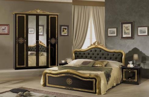 Schlafzimmer Lucy in schwarz gold klassisch Designer Luxus Möbel