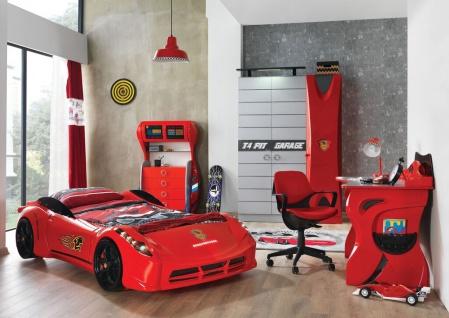 Autobett Kinderzimmer Garage in Rot f?r Autofans