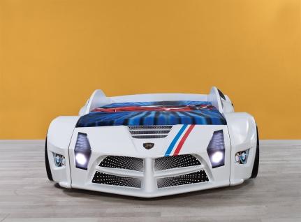 Autobett Luxury Standart in weiss mit Frontbeleuchtung