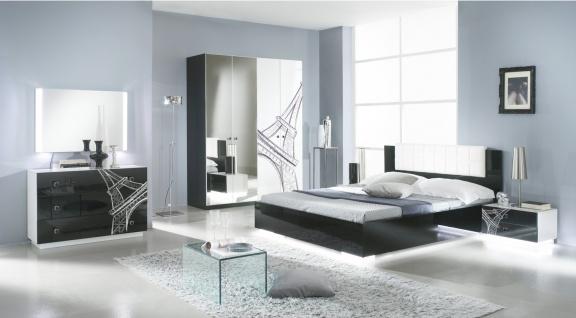 Schlafzimmer Vivienne in Schwarz Weiß 6 teilig