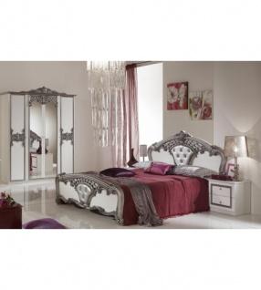 Fantastisch Schlafzimmer Elisa Weiss Silber 160 X 200 Cm Klassisch Royal 4tl