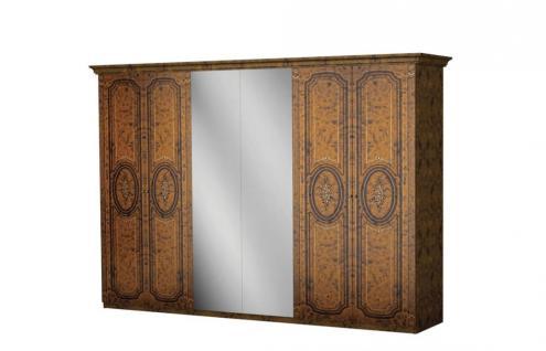 Kleiderschrank Florenz 6türig in walnuss für Schlafzimmer