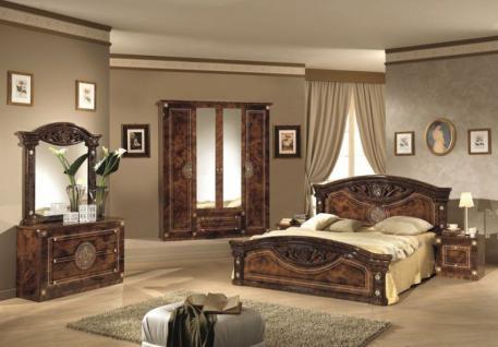 Schlafzimmer Rana walnuss braun 4-türig Schrank 180 Bett Design