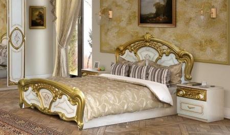 bett 160x200cm rozza wei gold italien klassik barock design kaufen bei kapa m bel. Black Bedroom Furniture Sets. Home Design Ideas