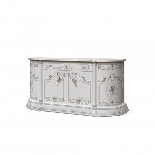 Sideboard Rozza in Weiss/Silber 4-T?rig