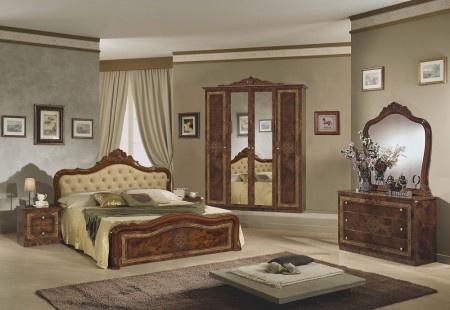 Schlafzimmer Lucy in walnuss klassisch braun Designer Italien Mö ...