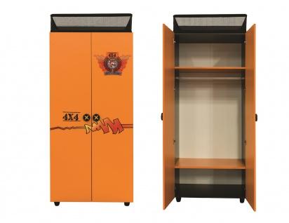 Kleiderschrank Offroad Hamer 2-trg in orange schwarz