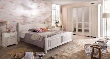 AuBergewohnlich Schlafzimmer Pina Im Landhausstil In Weiss Pinie Teilmassiv Gebü   Vorschau  2
