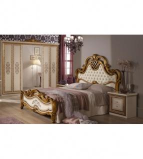 Schlafzimmer Anja beige Bett 160 Schrank 6trg Italien Barock 4tl ...